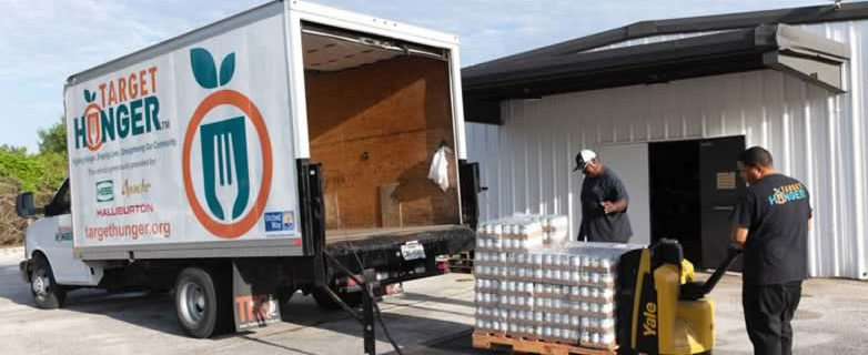 Target Hunger Truck being loaded
